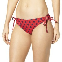 Mossimo® Women's Mix and Match Stripe Keyhole Swim Bottom -Poppy Red