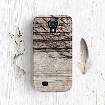 Wood Galaxy s4 case WOOD PRINT samsung galaxy s4 case Galaxy note 2 case Galaxy s2 case gift for men thorn Vine Galaxy s3 case 3d print /c67