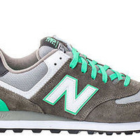 New Balance Mens 574 Sneakers DK Grey Green Oasis Grey ML574CPF