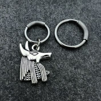 316L Surgical Stainless Solid Steel 16g, spring captive ring, Helix, cartilage, tragus earring