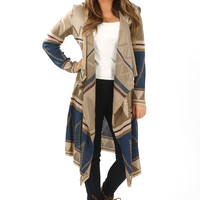 Every Time I See You Cardigan: Sand/Multi