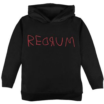 Halloween Horror Redrum Toddler Hoodie