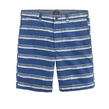 "J.Crew Mens 9"" Stanton Short In Batik Striped Cotton"