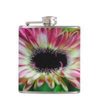 Pink and cream daisy unfolding flask