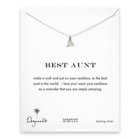best aunt happy heart necklace, sterling silver