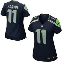 Nike Percy Harvin Seattle Seahawks Ladies Game Jersey - College Navy