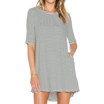 Knot Sisters Lizzie Dress in Black & White Stripe