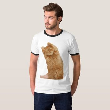 Funny Cat Gym T-shirt (Men's) - Stretch First!