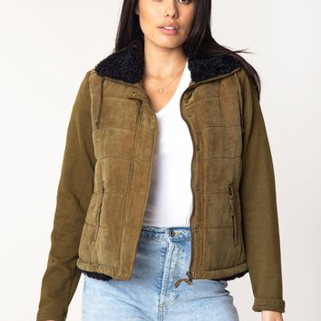 Tia Quilted Sherpa Jacket