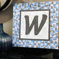 Monogram Wall Art, Letter Mosaic, Custom Gift