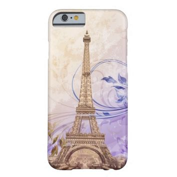 Eiffel Tower Lavender Cream Vines iPhone 6 Case