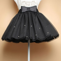 Sweet princess bow tutu skirts