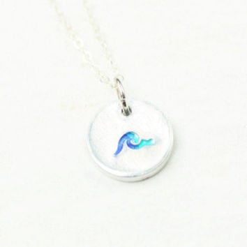 Wave Necklace, Ocean Necklace, Simplistic Wave Jewelry, Beach Necklace, Beach Jewelry