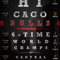 Chicago Bulls Championship Eye Chart - Free Customization - Perfect Birthday Gift