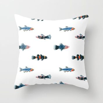 Swim With The Fishes Throw Pillow by allisone