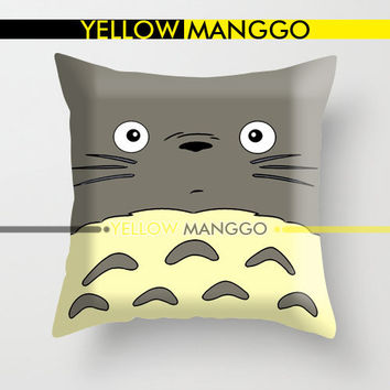 """Totoro My Neightbour Design Pillow Case Cover Bedding 18""""x18""""  Unique Gift."""