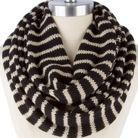 SUPER CHIC STRIPE KNIT INFINITY SCARF