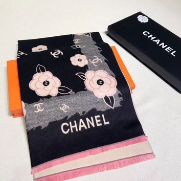 CHANEL Woman Fashion Accessories Sunscreen Cape Scarf Scarves