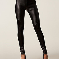 PU Panel Leggings, Rare London