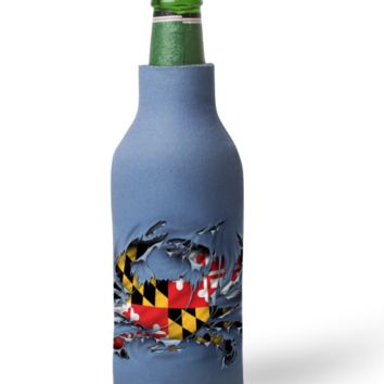 MD Ripped Crab Bottle Koozie