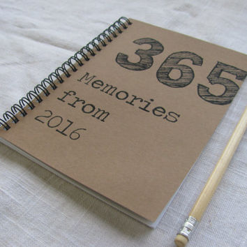 365 Memories from 2016 - 5 x 7 journal