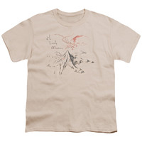 THE HOBBIT/LONELY MOUNTAIN - S/S YOUTH 18/1 - CREAM -