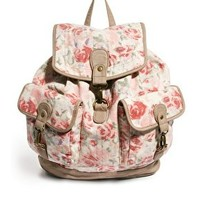 New Look Pearl Vintage Rose Backpack at asos.com