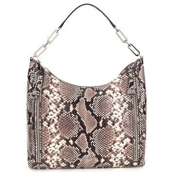 MICHAEL Michael Kors Matilda Python-Embossed Shoulder Bag | Dillards