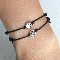 Celtic Circle Bracelet / Spiral Bracelet / Celtic Circle Anklet / Spiral Anklet (many colors to choose)