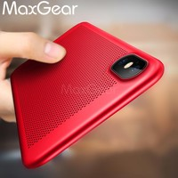 MaxGear Cover Case For apple iphone X 10 Breathable Mesh Radiating Skin Phone back Capa Cases covers for iphoneX accessories