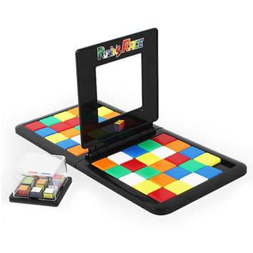Rubiks Race Magic Block Game 6+ Years Old The Gathering Blocks Gift for Birthday Children Party Favors Board Game Family TOYS #E
