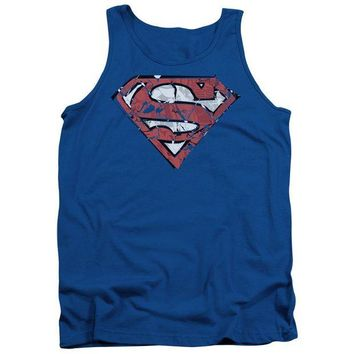 ac NOOW2 Superman - Ripped And Shredded Adult Tank