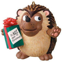 U Can't Touch This Hedgehog Musical Ornament