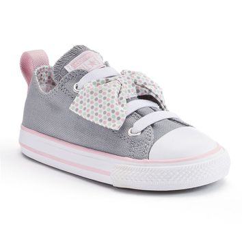 new styles af7b7 19993 Converse Chuck Taylor All Star Betty Bow Sneakers For Toddler Girls (Grey)