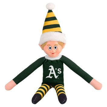 Oakland A's Holiday Christmas Team Elf with Santa Hat n Shirt MLB