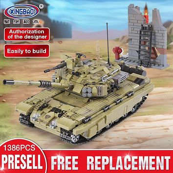 XINGBAO 06015 Genuine 1386Pcs Military Series The Scorpio Tiger Tank Set Building Blocks Bricks Toys Educational Christmas Gifts