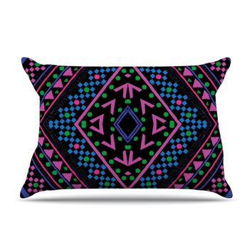 "Nika Martinez ""Neon Pattern"" Pillow Case"
