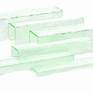 Tablecraft A6 6-Piece Acrylic Riser Set