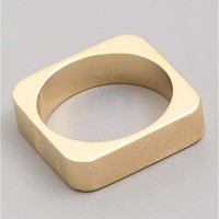 Brushed Metal Square Ring