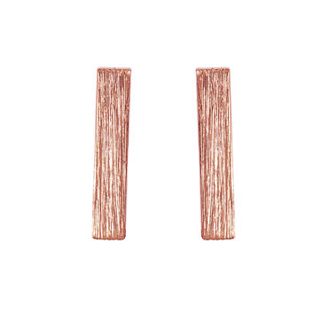 "1/2"" Rose Gold Bar Earrings"