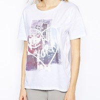 Selected T-Shirt with Heart New York Print