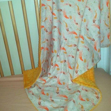 Mermaid Minky Blanket READY to SHIP by Becka Bug Baby on Etsy