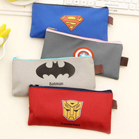 Cute Kawaii Cartoon Fabric Zipper Pencil Case For Kids Student Novelty Item School Material Free Shipping 1169