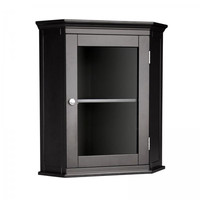 Elegant Home Fashions 7657 Madison Avenue Corner Wall Cabinet