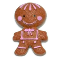 Vintage GINGERBREAD MAN Brooch 70s Avon Pin Pal Solid Perfume Fragrance Glace Broach Pin 1970s Kitsch Kids Jewelry Kawaii Pill Box BFF Gift