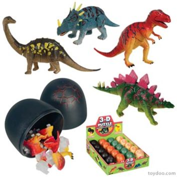 3D Puzzle Dinosaurs - Toysmith - Pack of 20 ea