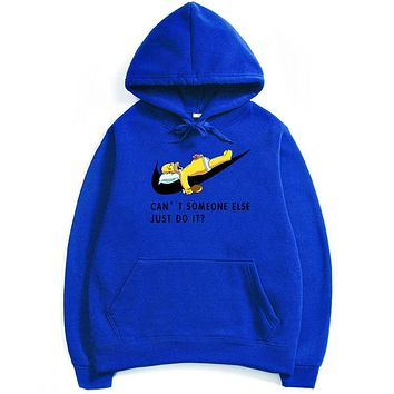 NIKE  Just Do It ,Men,s Hoodie Blue