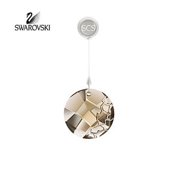 SWAROVSKI Amber Crystal 2010 SCS Window EARTH ORNAMENT Suncatcher #1003284