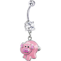 Pinky Pig Belly Ring