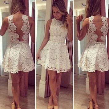 PEAPIH3 FASHION CUTE LACE HOT DRESS WITH BELT HIGH QUALITY